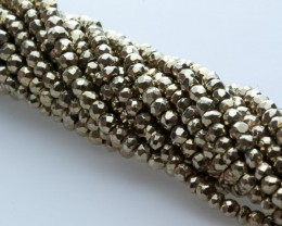 50ct Pale Gold Pyrite Bead Strands (B14)