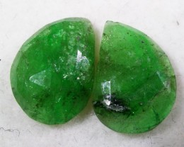 4.50 CTS EMERALD  PAIRS FACETED  FROM ZANZIBAR [ST7004 ]
