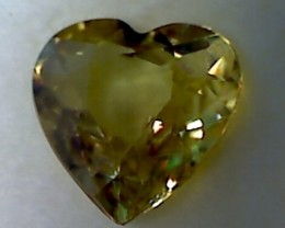 1.2ct Pretty Heart Shaped Bright Yellow Sphene D2