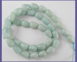 AAA 9X10.00MM TEARDROP PERUVIAN AMAZONITE BEADS - LOVELY