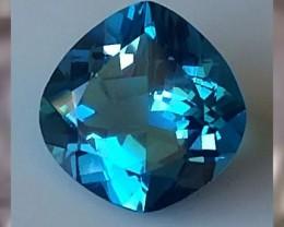 Fancy cut ~9.14cts ~ VVS ~ London Blue Topaz ~ Beautiful