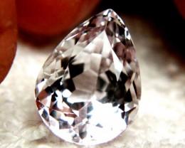 13.17 Carat VVS Himalayan White Kunzite Pear - Gorgeous