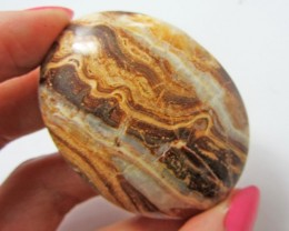 293.5CTS MOROCCAN AGATE PALMSTONE  GG1162