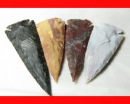 3 to 4 Inch Natural Jasper Arrow Head Caving Z1