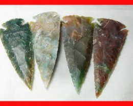 3 to 4 Inch Natural Jasper Arrow Head Caving Z4