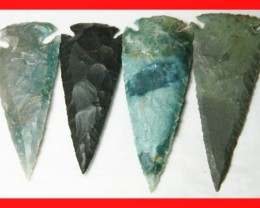 3 to 4 Inch Natural Jasper Arrow Head Caving Z5