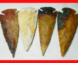 3 to 4 Inch Natural Jasper Arrow Head Caving Z8