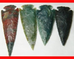 3 to 4 Inch Natural Jasper Arrow Head Caving Z9