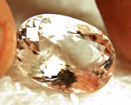 19.85 Carat Morganite.  Superb VVS1 Gem