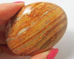 319.6CTS MOROCCAN AGATE PALMSTONE  GG1166