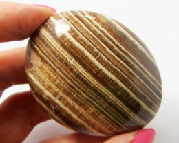 419.3CTS MOROCCAN AGATE PALMSTONE  GG1180