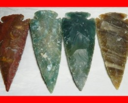 3 to 4 Inch Natural Jasper Arrow Head Caving Z15