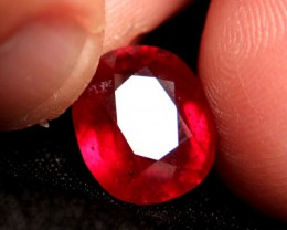 8.7 Carat VS/SI Ruby, Large, Fiery and Beautiful