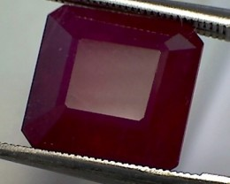 Large 7.60 ct CERTIFIED Gorgeous Blood Red Ruby - A938