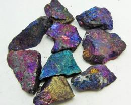 100 GRAMS  CHALCOPYRITE (PEACOCK ORE)    GG 1249