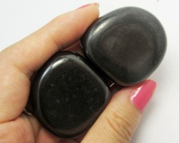 130 GRAMS 2 MAGNETIZED HEMATITE STONES  GG 1274