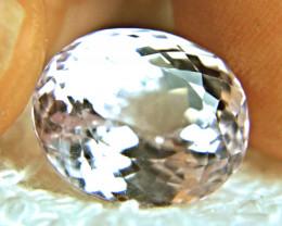17.06 Carat VVS1 Himalayan Pinkish White Kunzite - Gorgeous