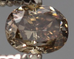 {CERTIFICATE} SPARKLING NATURAL TINTED BROWN DIAMOND 0.268Ct