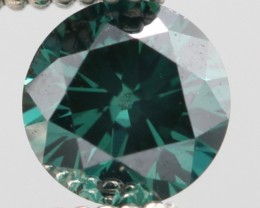 BRILLIANT NATURAL GREEN (BLUISH) DIAMOND 0.315Cts