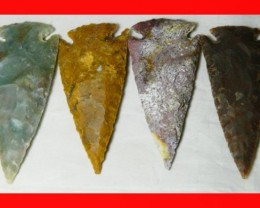 3 Inch Natural Jasper Arrow Head Caving Z33