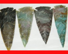 3 to 4 Inch Natural Jasper Arrow Head Caving Z 36