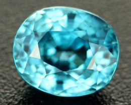 3.23 CTS CERTIFIED VVS SEA FOAM BLUE ZIRCON - CAMBODIA [ZIR8]