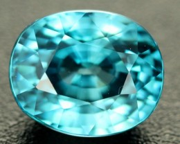 5.54 CTS  CERTIFIED VVS SEA FOAM BLUE ZIRCON - CAMBODIA [ZIR7]