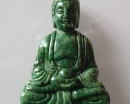 FROM A COLLECTION GREEN JADE BUDDHA  60x40x20 MM