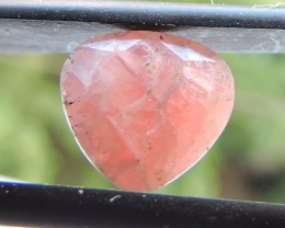 2.45ct RHODOCHROSITE PEAR FACETED SPECIMEN GEMSTONE FROM AFRICA