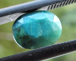 1.40ct CHRYSOCOLLA OVAL FACETED SPECIMEN GEMSTONE FROM MADAGASCAR