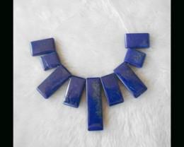 Lapis Lazuli Pendant Beads Set,61.65g