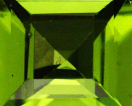 1.57 CTS CERTIFIED PERIDOT STONE SQUARE STEP CUT  [W35703]