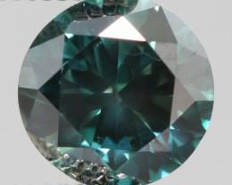 VERY RARE SPARKLING BLUENISH GREEN NATURAL DIAMOND 1.04Cts