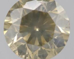 {CERT} SUPER HUGE BROWNISH YELLOW NATURAL DIAMOND 2.184Ct
