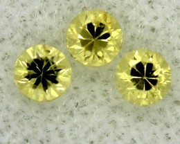 0.073 CTS CERTIFIED YELLOW SAPPHIRE UNTREATED  TBM-106