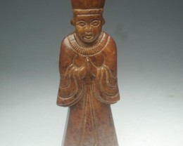 FROM A COLLECTION OLD JADE STATUE CARVING/PENDANT 80mm