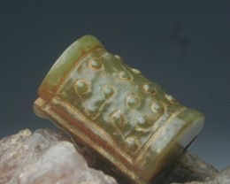"FROM A COLLECTION OLD JADE ""FLOATING POINT"" PENDANT 1"""