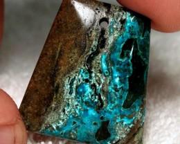 39 Carat Chrysocolla Pendant Stone - 30mm