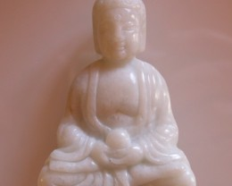 FROM A COLLECTION WHITE JADE CARVING BUDDHA