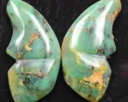 31.35 CTS JASPER SEA BUTTERFLY SHAPE AND POLISHED PAIR