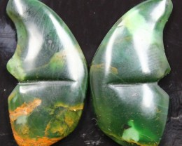 34.30 CTS JASPER SEA BUTTERFLY SHAPE AND POLISHED PAIR