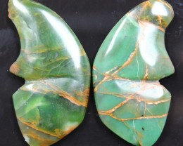 31.50 CTS JASPER SEA BUTTERFLY SHAPE AND POLISHED PAIR
