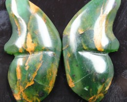 32.65 CTS JASPER SEA BUTTERFLY SHAPE AND POLISHED PAIR