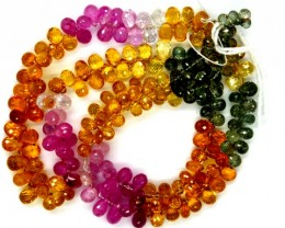 SAPPHIRE MULTICOLOURBEADS 113CTS   PGB-1
