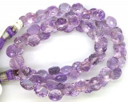 AMETHYST DRILLED  BEAD STRAND FACETED 101  CTS  PGB-2