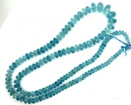 AQUAMARINE FACETED BEAD STRAND 140.20  CTS PGB-3