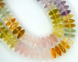 MIX GEMSTONE BEAD STRAND 276  CTS  PGB-19