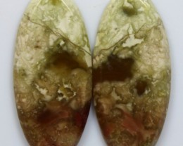 10.40 CTS JASPER PAIR POLISHED STONES GREAT RANGE IN STORE