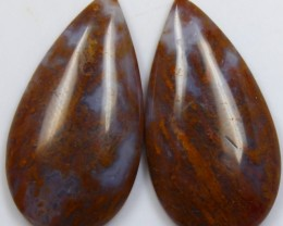 38.70 CTS JASPER PAIR POLISHED STONES GREAT RANGE IN STORE
