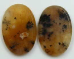 21.60 CTS AGATE PAIR POLISHED STONES GREAT RANGE IN STORE